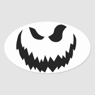 Jack-O-Lanterna de sorriso Adesivo Oval