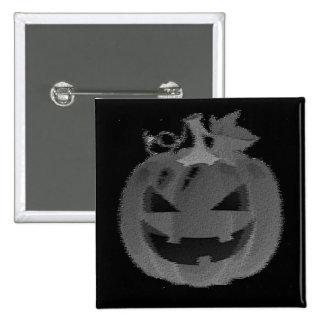Jack-o-lanterna de sorriso bóton quadrado 5.08cm