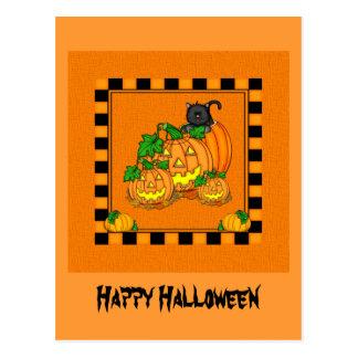 Jack O'Lanterns o Dia das Bruxas Cartão Postal