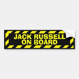 Jack Russell a bordo da etiqueta amarela do Adesivo Para Carro