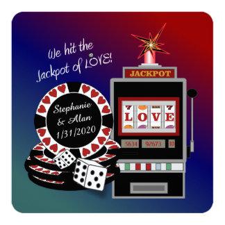 Jackpot do convite da recepção do amor