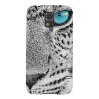 Jaguar preto e branco com olhos azuis capa para galaxy s5