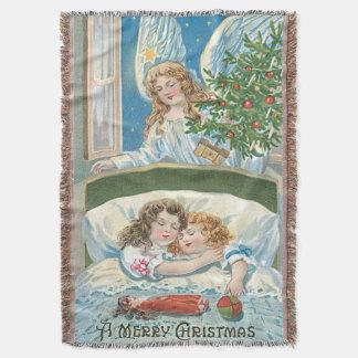 Janela da árvore de Natal do anjo do sono das Manta