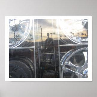 janela da auto loja de retrato de auto poster