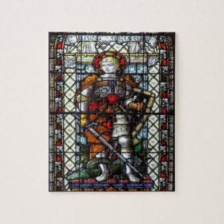 Janela de vitral de St George Quebra-cabeça