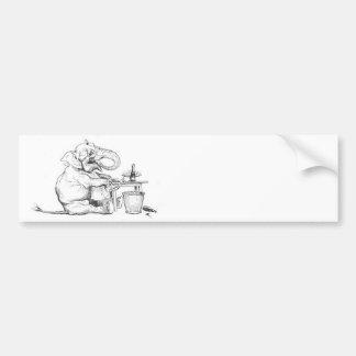 Jante como uma ilustração do elefante adesivo para carro