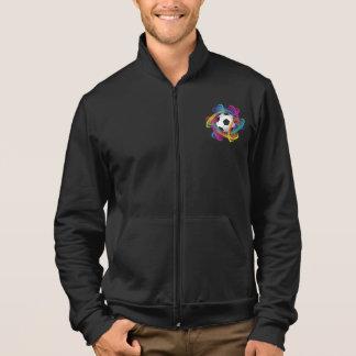 Jaqueta colorida dos homens da bola de futebol