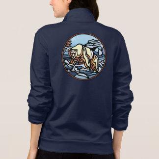 Jaqueta da arte do urso polar das mulheres da