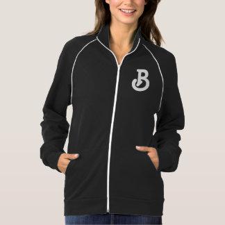 Jaqueta das senhoras do monograma da letra B
