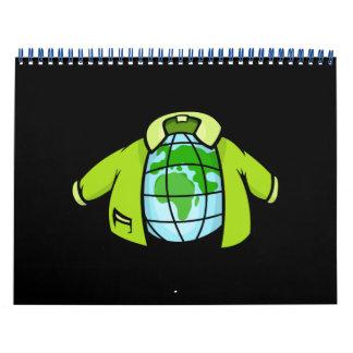 Jaqueta do globo calendário