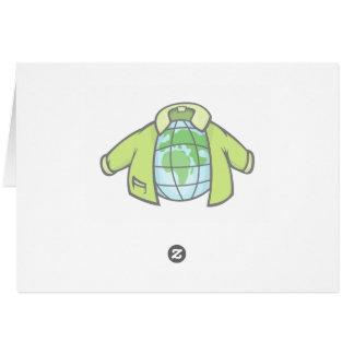 Jaqueta do globo cartão
