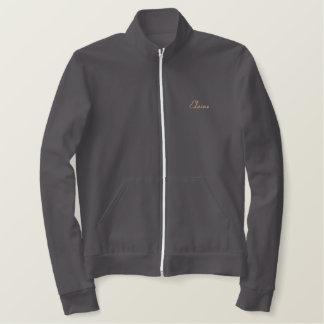 Jaqueta Esportiva Bordada Design de texto preto da mamã de Labrador