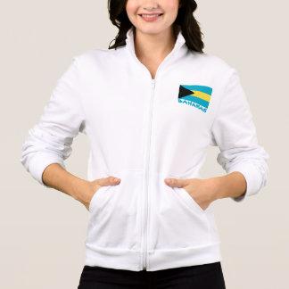 Jaqueta Estampada Bahamas embandeiram o texto azul customizável