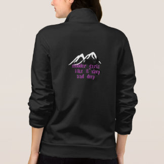 Jaqueta Estampada Hoodie do fecho de correr de Gurlz do Sledder