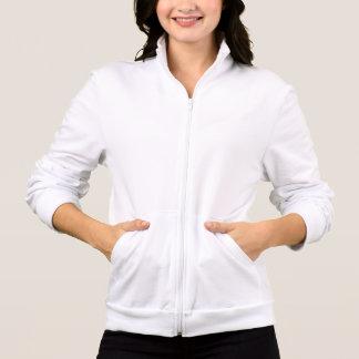 Jaqueta Estampada Você das mulheres vai basculador do velo do iogue