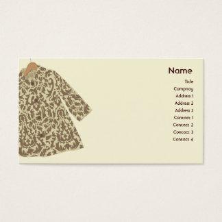 Jaqueta - negócio cartão de visitas
