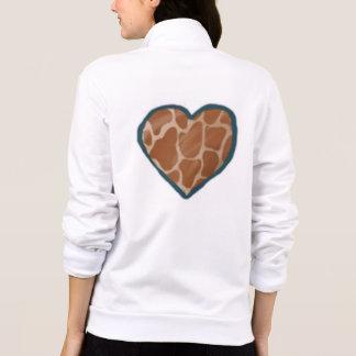 Jaquetas do coração do amor dos girafas