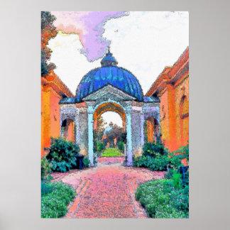 Jardim botânico, cores de Fauvist Impressão