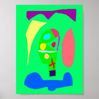 Jardim botânico do pódio vegetal do altar posters