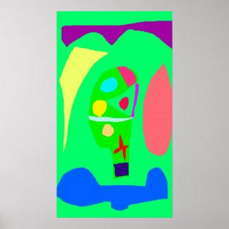 Jardim botânico do pódio vegetal do altar poster
