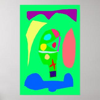 Jardim botânico do pódio vegetal do altar impressão