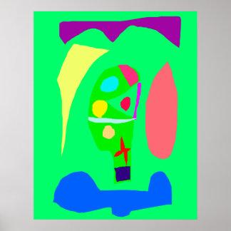Jardim botânico do pódio vegetal do altar posteres