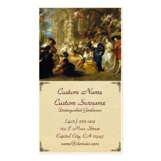 Jardim da obra-prima de Peter Paul Rubens do amor Cartão De Visita