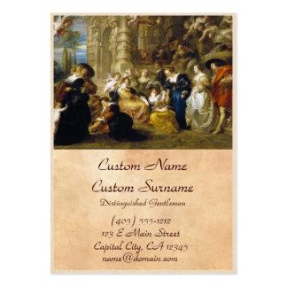 Jardim da obra-prima de Peter Paul Rubens do amor Cartão De Visita Grande