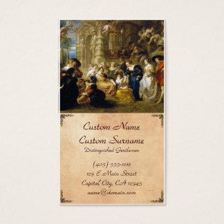 Jardim da obra-prima de Peter Paul Rubens do amor Cartão De Visitas