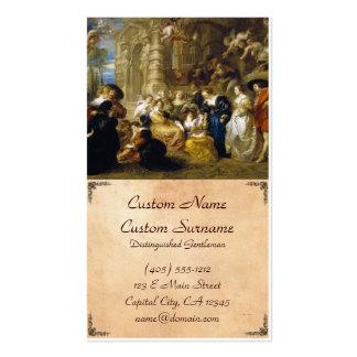 Jardim da obra-prima de Peter Paul Rubens do amor Modelos Cartões De Visitas
