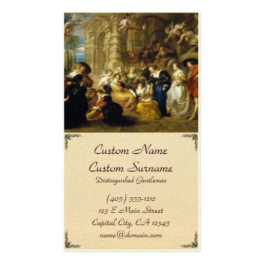 Jardim da obra-prima de Peter Paul Rubens do amor Modelo Cartões De Visita