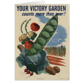 jardim de vitória do poster ww2 cartão