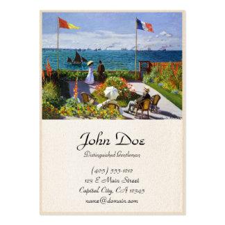 Jardim em Sainte-Adresse, Claude Monet 1867 Cartão De Visita Grande