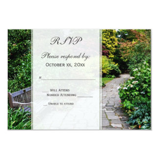 Jardim inglês RSVP Convite Personalizados