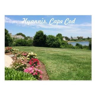 Jardim no memorial de JFK, cartão de Cape Cod