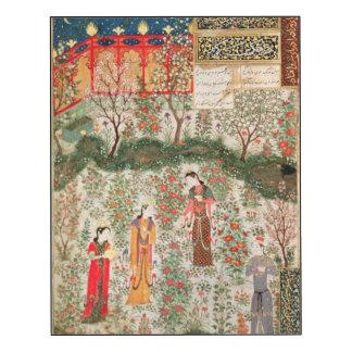 Jardim persa, século XV (w/c no papel)