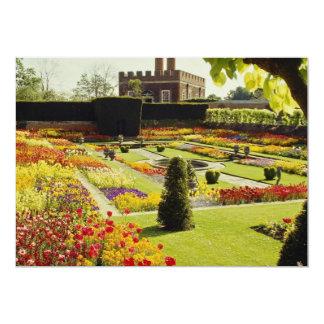 Jardim vermelho do palácio do Hampton Court, Convite 12.7 X 17.78cm
