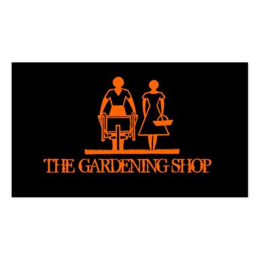 Jardinagem à moda do preto modelos cartão de visita