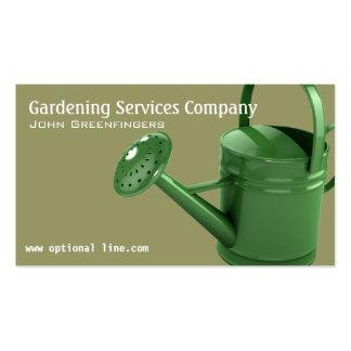 Jardinagem ajardinando o cartão de visita