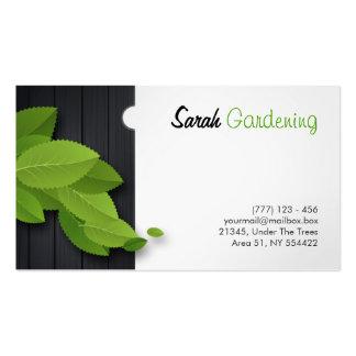 jardinagem, arquitetura, cartão da carpintaria cartão de visita