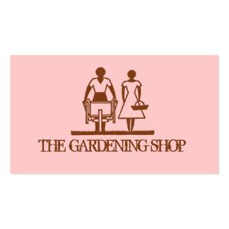 Jardinagem cor-de-rosa à moda do primavera do cartoes de visitas