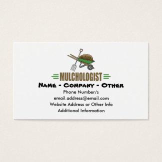 Jardinagem engraçada cartão de visitas