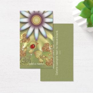 Jardinagem pequena bonito do joaninha cartão de visitas