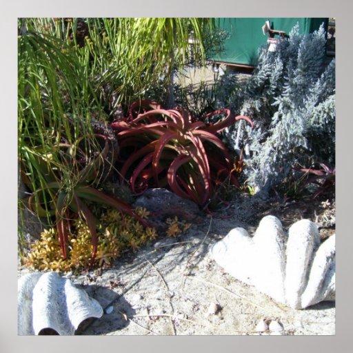 Jardins botânicos 3 das codorniz pôsteres