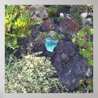 Jardins botânicos 4 das codorniz pôster