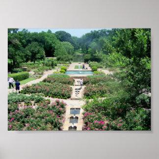 Jardins botânicos de Fort Worth Poster