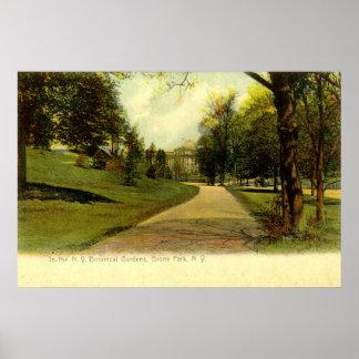 Jardins botânicos, vintage 1905 de Bronx New York Poster