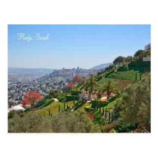 Jardins de Bahá'í de Haifa, Israel Cartão Postal