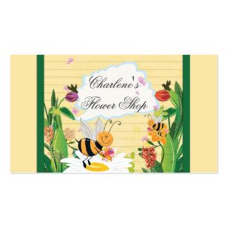 Jardins de flores dos zangões cartão de visita