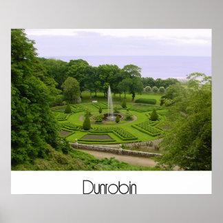 Jardins do castelo de Dunrobin Posters
